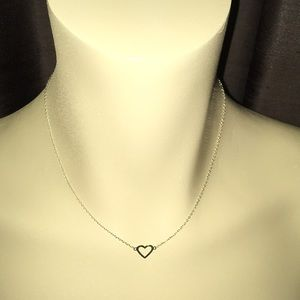Jewelry - Solid 14k Yellow Gold Heart Necklace 16 in